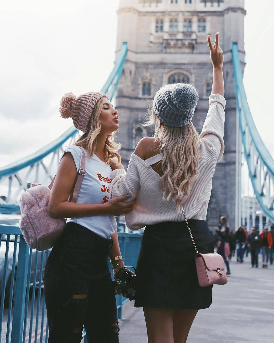 Tag your best friends. credit @carmushka @anajohnson___ #americanstyle    Bff photoshoot poses, Bff, Friends photography