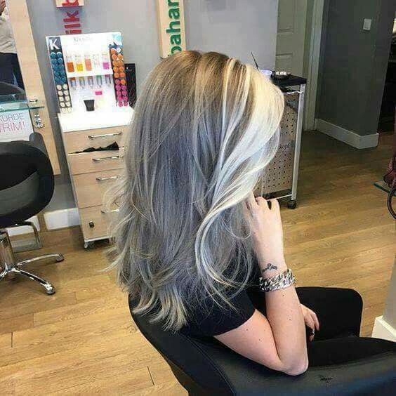 Image Result For Transition To Grey Hair With Highlights Hair