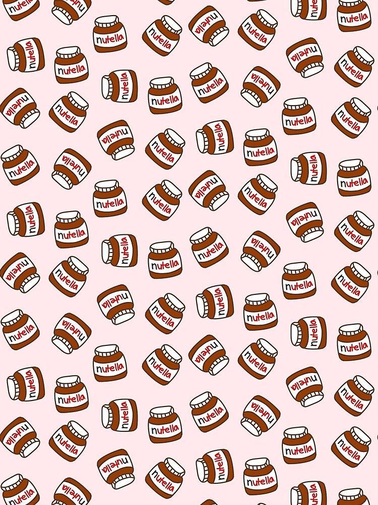 Cute Tumblr Nutella Pattern Scarf By Deathspell Cute Food Wallpaper Nutella Food Wallpaper