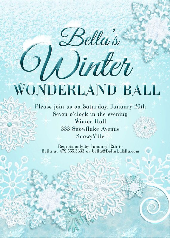 snowflake invitation | frozen | pinterest | snowflake invitations, Party invitations