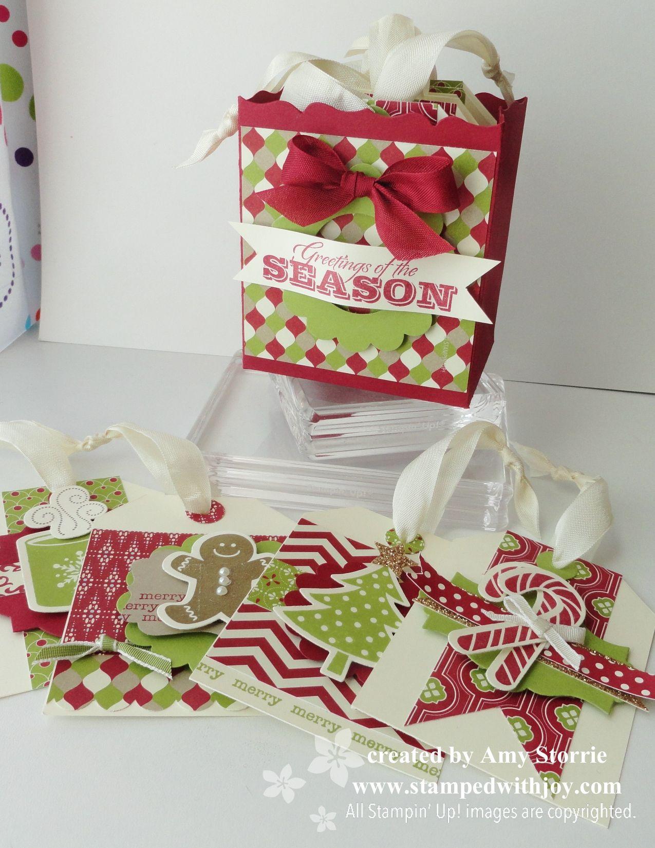 Christmas Gift Tag Set | Stampin\' Up! | Pinterest | Christmas gifts ...