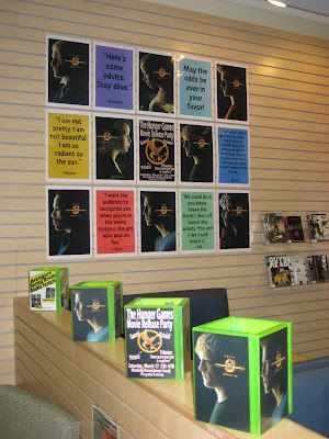 Hunger Games display in teen area I want my room to be like this next year!