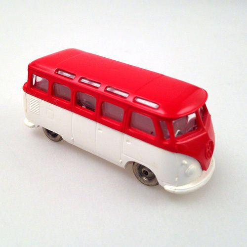 lego 1 87 h0 vw t1 samba bulli bus van rot weiss red. Black Bedroom Furniture Sets. Home Design Ideas