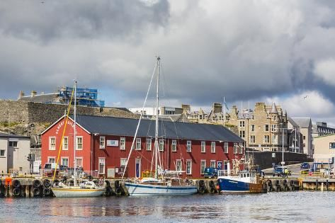 Photographic Print: Views of the Port City of Lerwick, Shetland Islands, Scotland, United Kingdom, Europe by Michael Nolan : 24x16in
