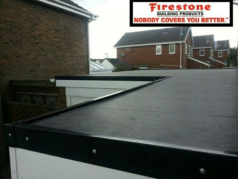 Firestone Rubbergard Epdm Membrane The Rainy Season Has Arrived Overcome Your Building Roof Leaks With A Sy Rubber Flat Roof Residential Flat Roof Flat Roof