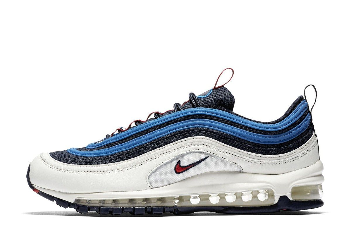 e9a21e938882b Nike Air Max 97 SE to Release in White, Navy, Blue & Red - EU Kicks:  Sneaker Magazine