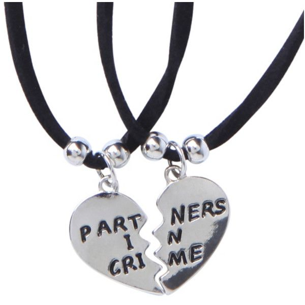 LOVEsick Partners In Crime Choker Best Friends Set | Hot Topic (57 DKK) ❤ liked on Polyvore featuring jewelry, black jewelry e kohl jewelry