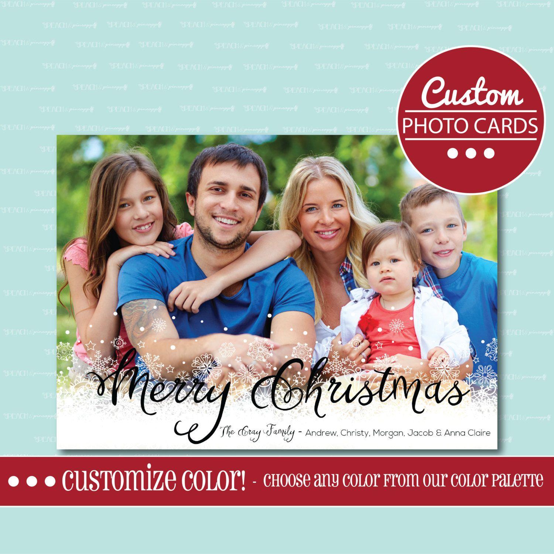 CHRISTMAS PHOTO CARD, Photo Card, Christmas, Holiday, Card, Photo ...
