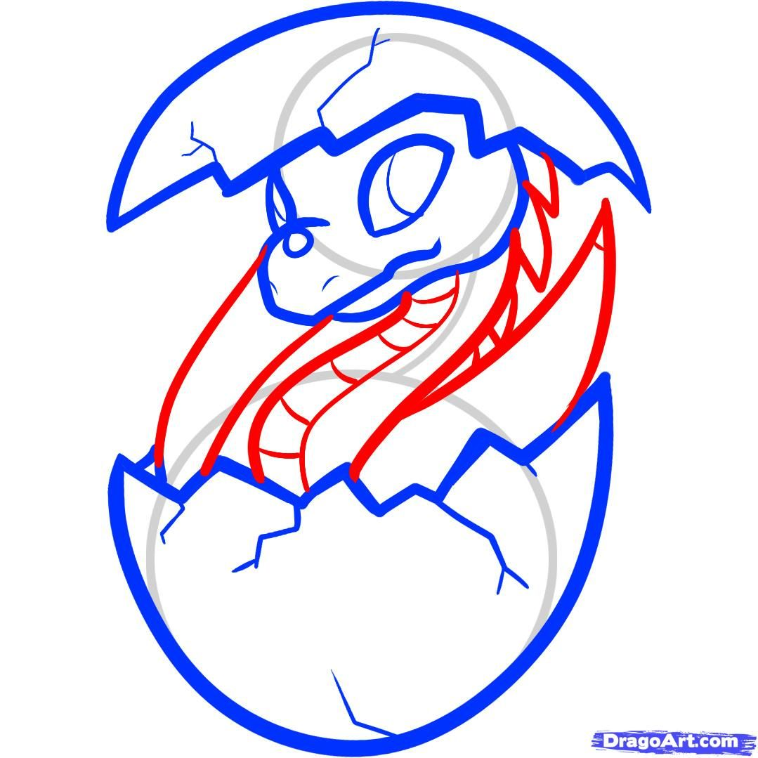 how to draw s dragon