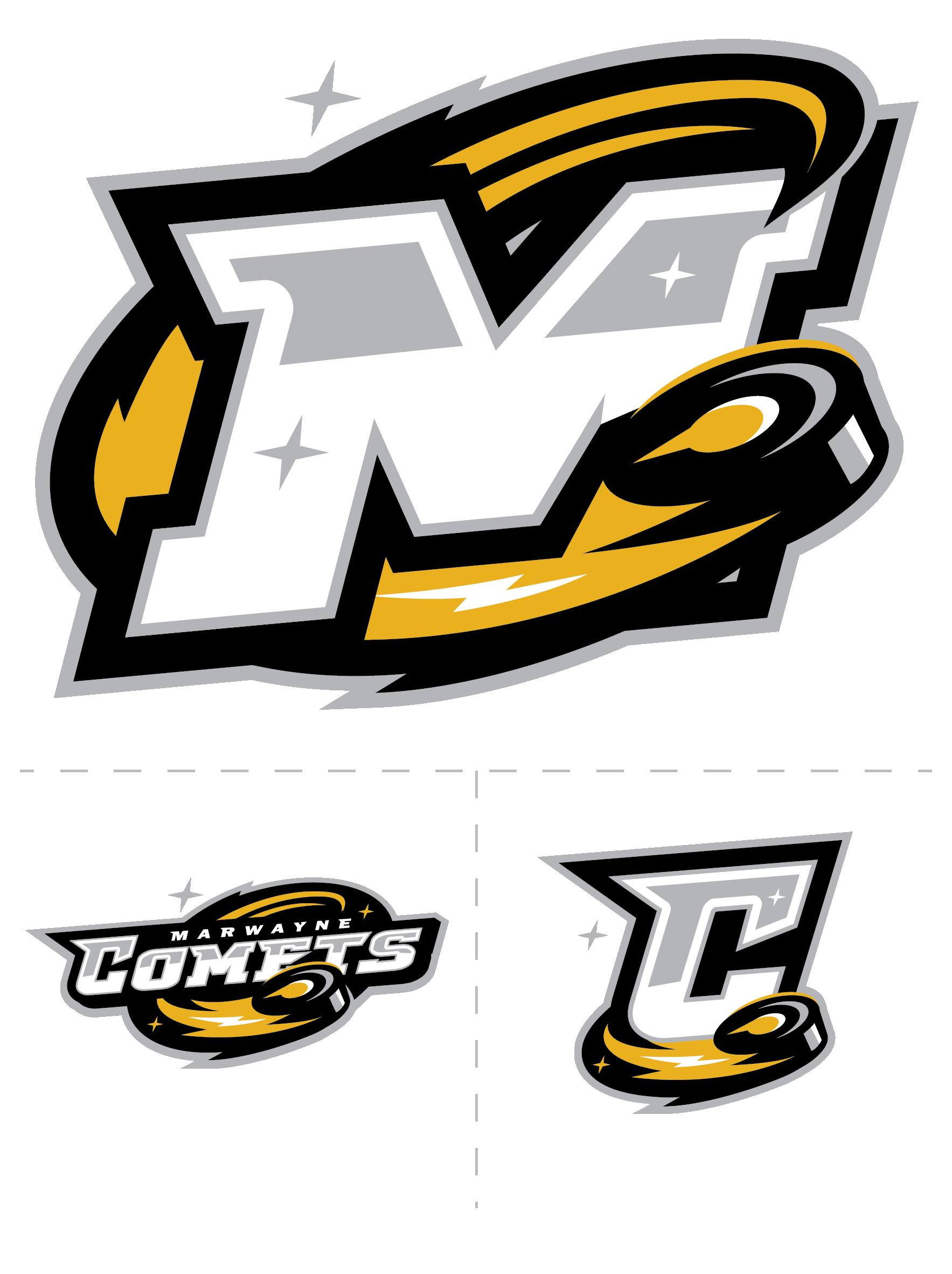 MARWAYNE COMETS HOCKEY — Artslinger | Football logo design, Hockey logos, Sports team logos