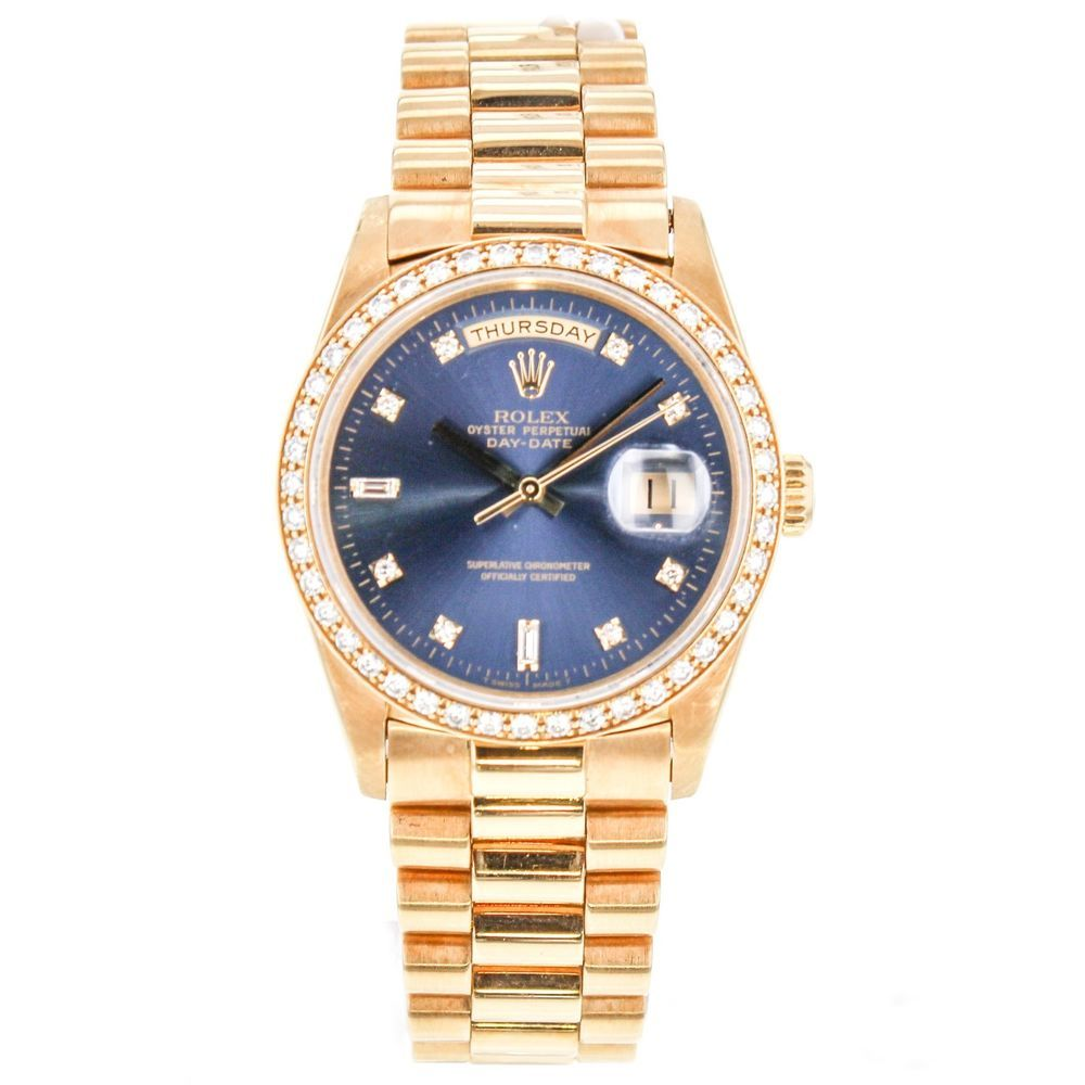 rolex day date 18238 18k yellow gold wrist watches for men