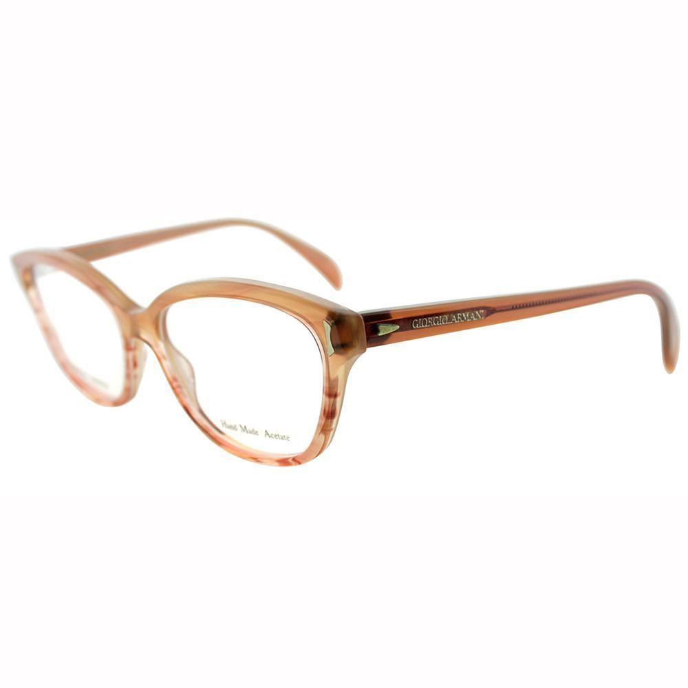 60cb52efc9 Giorgio Armani Womens GA 818 WLG Beige Cateye Eyeglasses-52mm ...