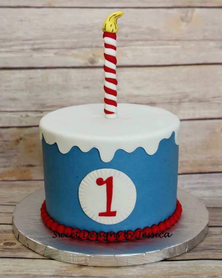 Dr. Seuss themed smash cake