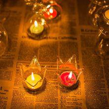 Couronne de verre Vase bougie maison de titulaire décoration de mariage romantique dîner chandelier(China (Mainland))