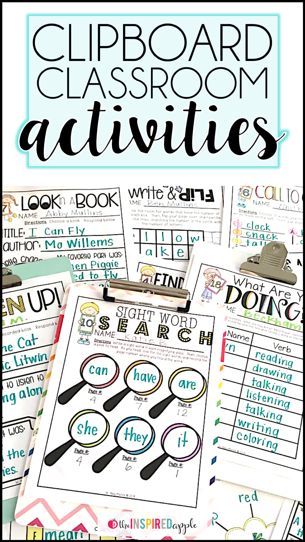 Twenty Activities For Kindergarten And First Grade