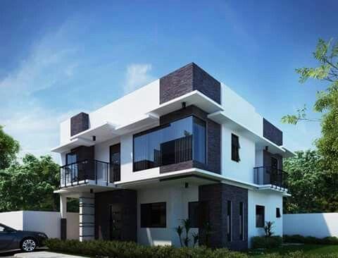 Rumah Hunian Minimalis Menggunakan Konstruksi Atap Datar | Lanskap Rimbun |  Pinterest | Construction