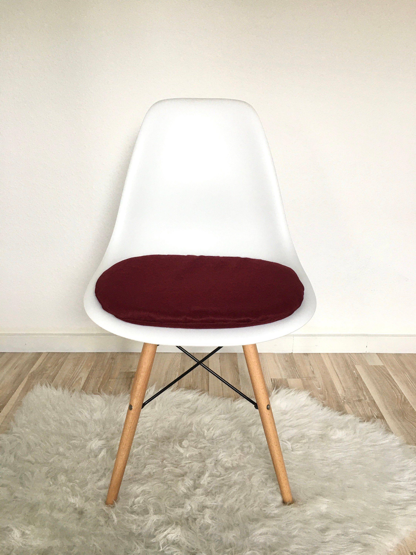 Sitzpolster Dunkelrot Eames Chair Sitzkissen Eames Rotes Kissen
