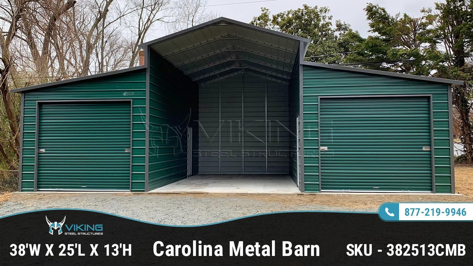 38 W X 25 L X 13 H Carolina Metal Barn Metal Barn Barn Metal