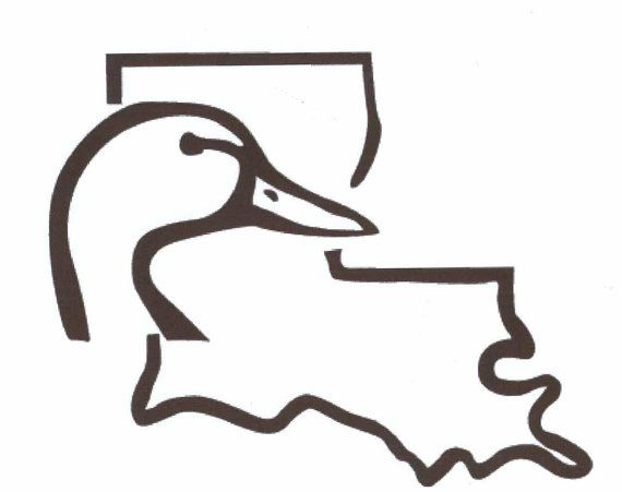 Louisiana duck head decal sticker by southerlydesigns on etsy