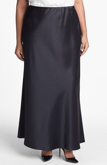 Alex Evenings Satin Skirt (Plus Size) available at #Nordstrom
