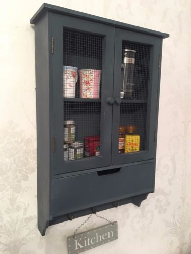 Shabby Chic Wall Cabinet Drawers Cupboard Vintage Kitchen Display Wooden Unit Wall Cabinet Kitchen Display Cabinet Drawers