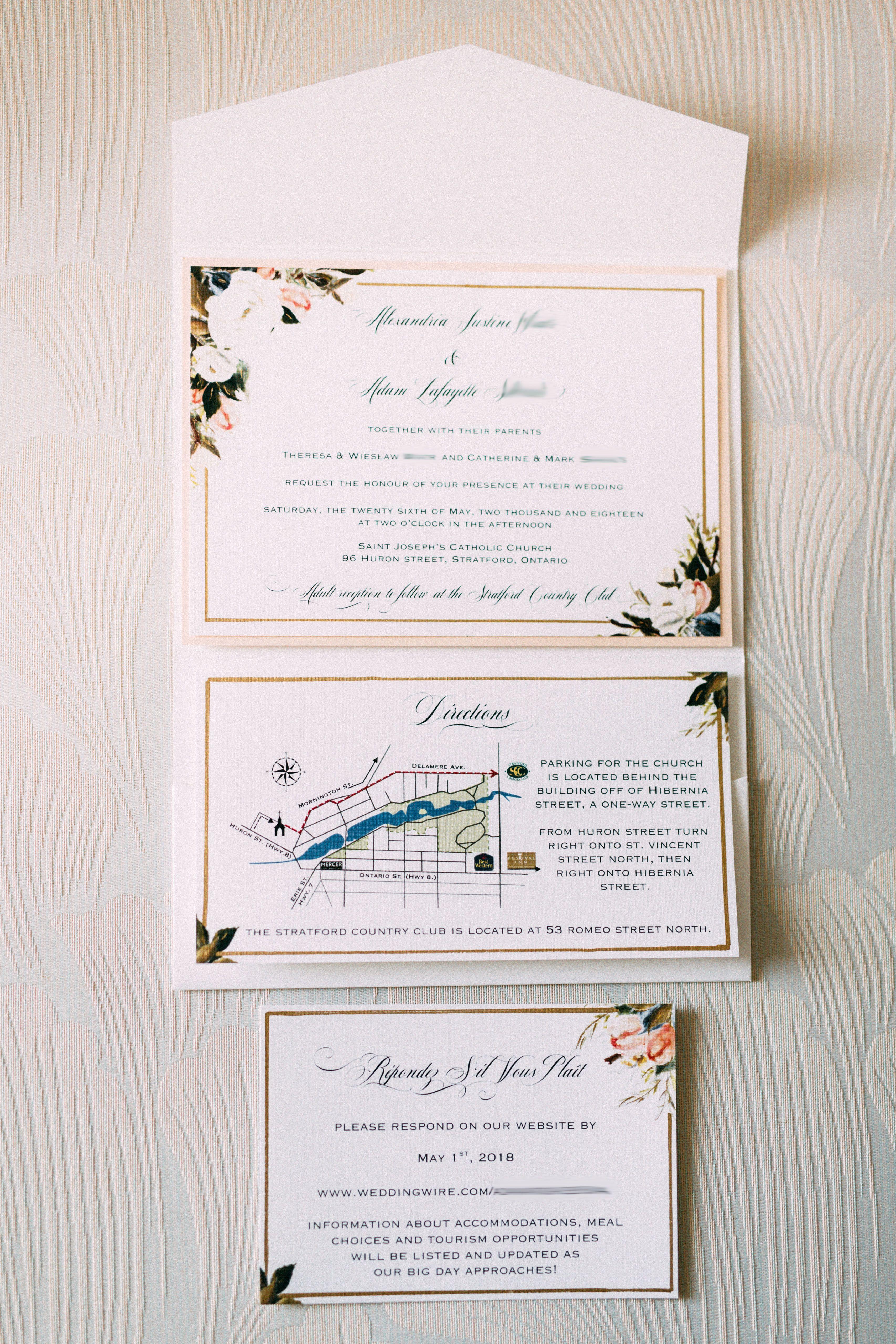 My Diy Story Ivory Blush Floral Pocket Invitation Cards Pockets Design Idea Blog Pocket Wedding Invitations Cheap Wedding Invitations Wedding Invitations