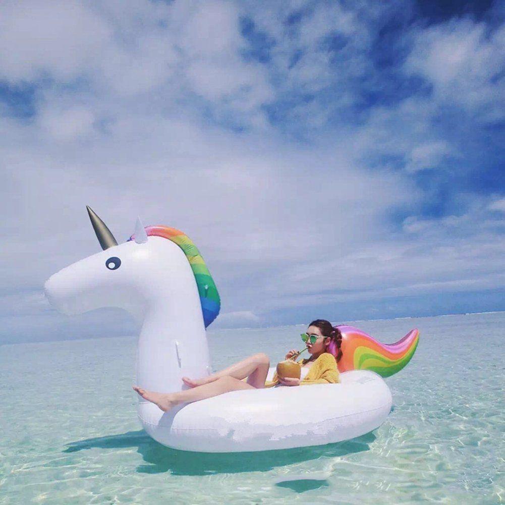 Riesiges Aufblasbares Einhorn Schwimmtier Mjfox Pool Einhorn Luftmatratze Aufblasbar Schwimmen Floss Pvc Aufblasbarer Sc Luftmatratze Aufblasbare Tiere Pool