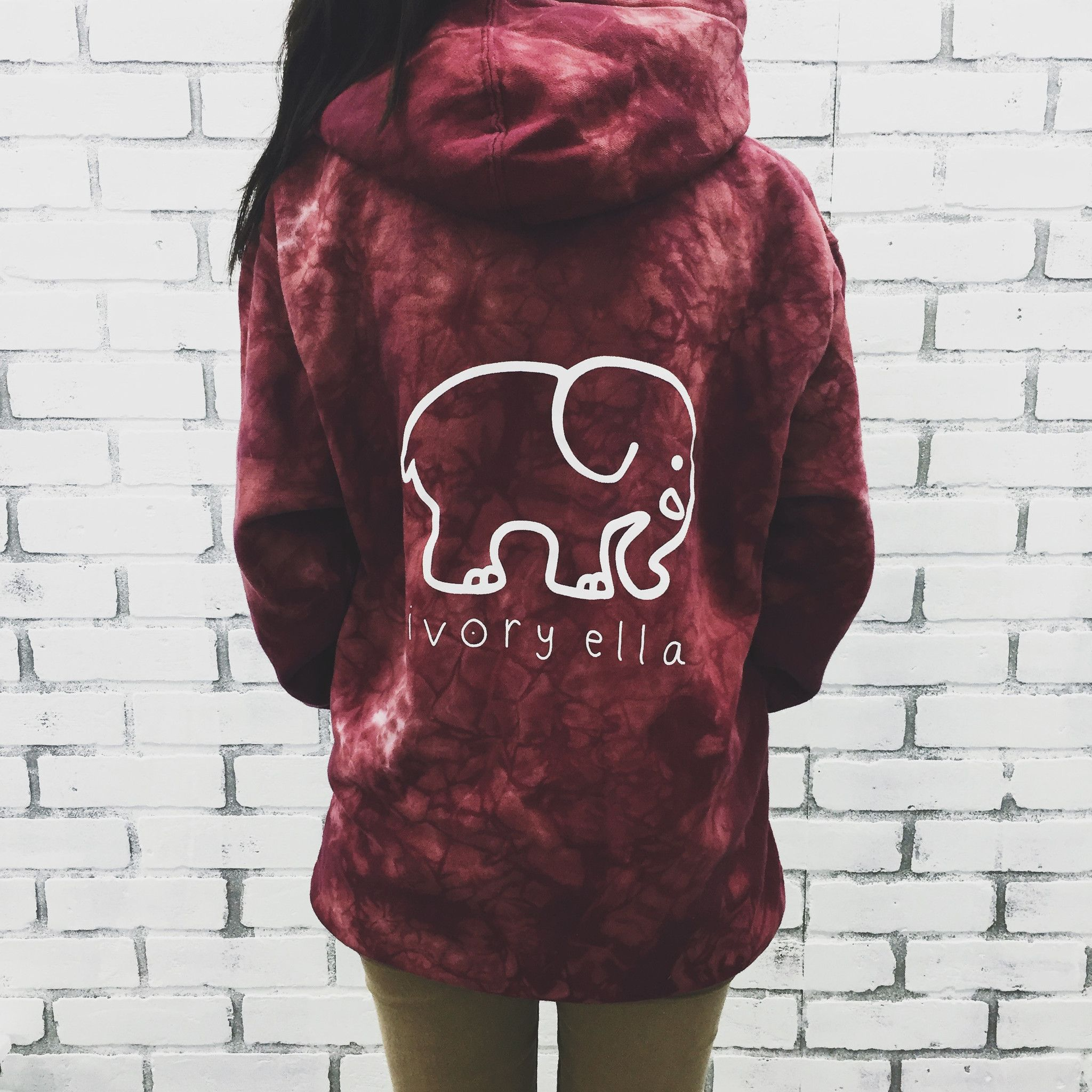a3782d7a7 Oversized Maroon Acid Wash Medallion Print Hoodie in 2019