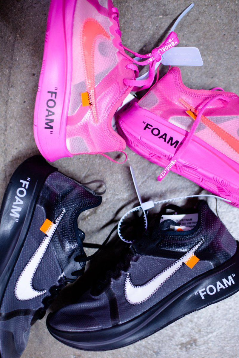 21029921a848 Womens size the best Nike Off-White The 10   OW Zoom Fly Tulip Pink UA  sneakers
