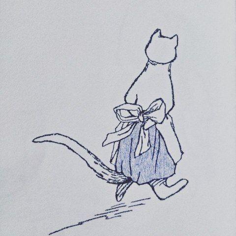 連投すいません 💦  つづけて#猫の絵本 #まっててねハリー #メアリーチャルマーズ #福音館書店 #かわいいです 🌙🌠