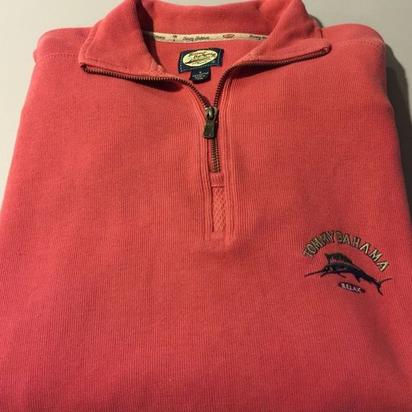 Tommy Bahama men's coral sweater. Relax Men's size small. Runs big and comfortable. Tommy Bahama Sweaters