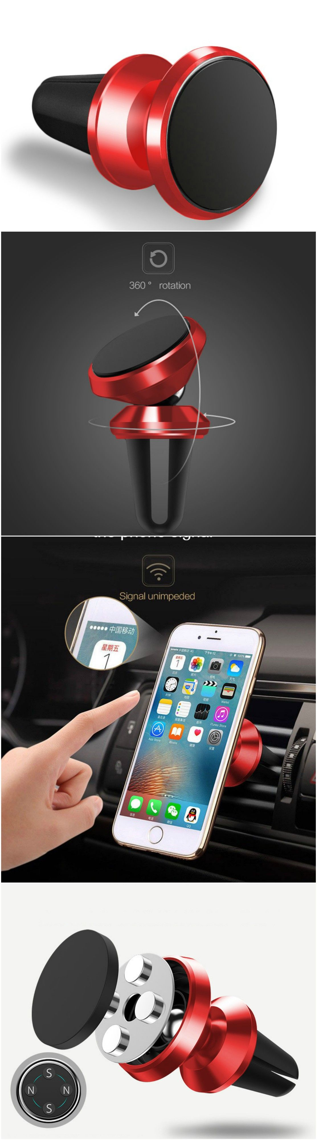 New Magnet Air Vent Car Phone Holder Stand Universal Mount