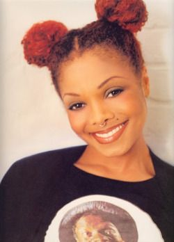 Look At Janet And Her Cute Puff Balls Natural Hair Styles Hair Styles Natural Hair Inspiration