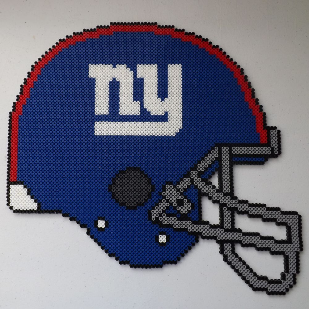 NY Giants Football Helmet Perler Bead Art by kamikazekeeg on ...
