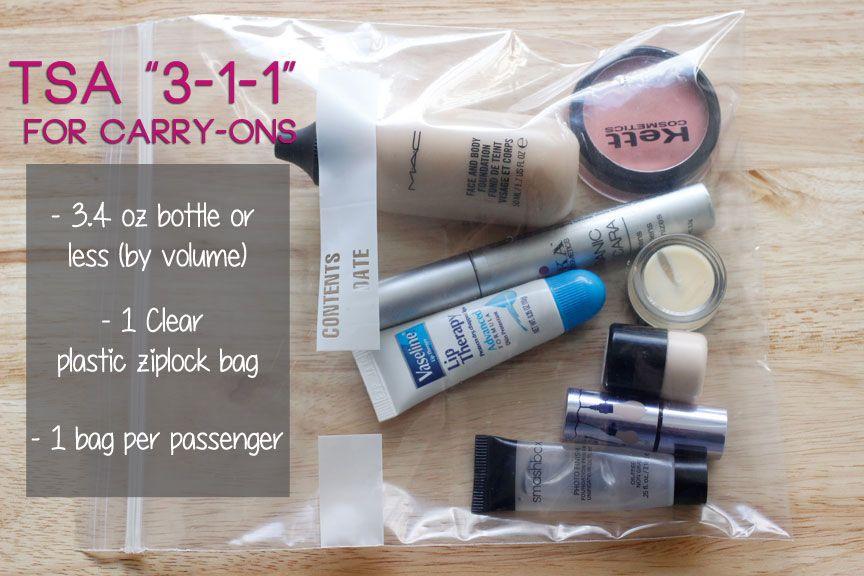 How to Pack a Travel Makeup Bag   Makeup bags travel ...