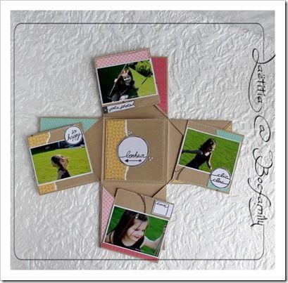 mini album tutorial Mini album croisé, tuto,  Lætitia La Bocfamily