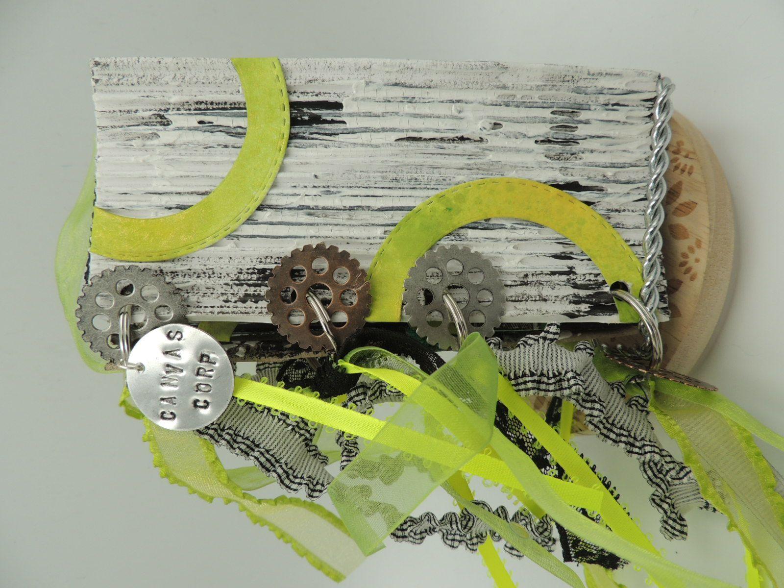 Green mean mini album with canvas corp mini albums