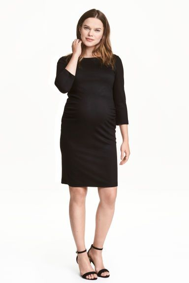 f5fb9e6130bcca MAMA Jersey dress - Black - Ladies