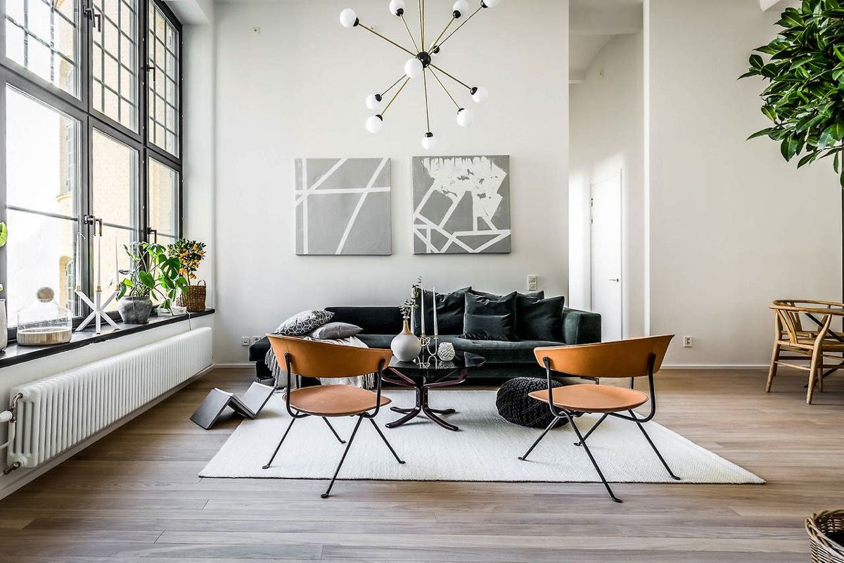 5 Scandinavian Style Apartments Urban Industrial Decor Industrial Design Furniture Contemporary Apartment
