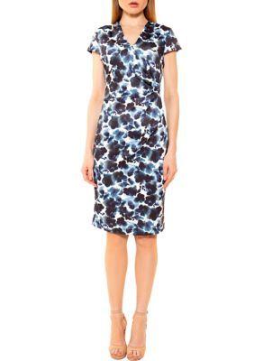 Alexia Admor Women's Kinsley Ruched Dress – Tie Dye Floral – Xl