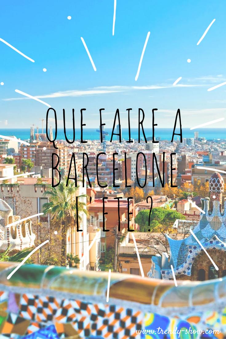 Que faire à Barcelone en été ?