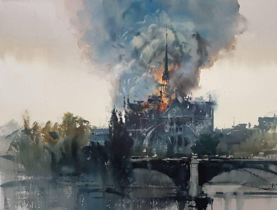Michal Jasiewicz Notre Dame De Paris 15 04 2019 Notre Dame Fire