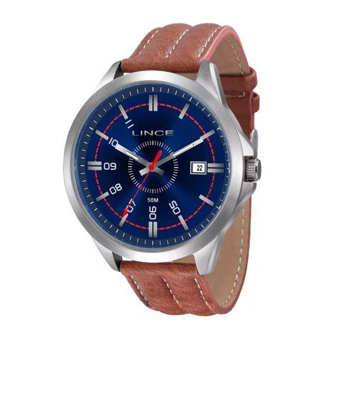 021204771af Couro · Masculino · Pulseiras · Preto. Certificado. Modelo · Informações do  Relógio Marca  Lince Estilo  Fashion Mecanismo  Analógico Modelo  MRM4258S  P2PX