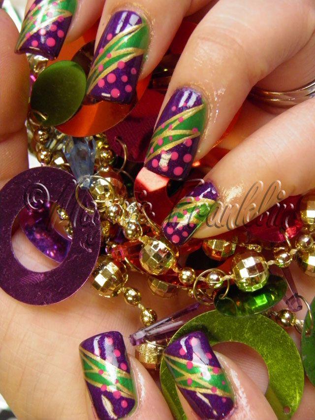 Mardi Gras Nails - Mardi Gras Nails $tuff To Wear Pinterest Mardi Gras, Nail Nail