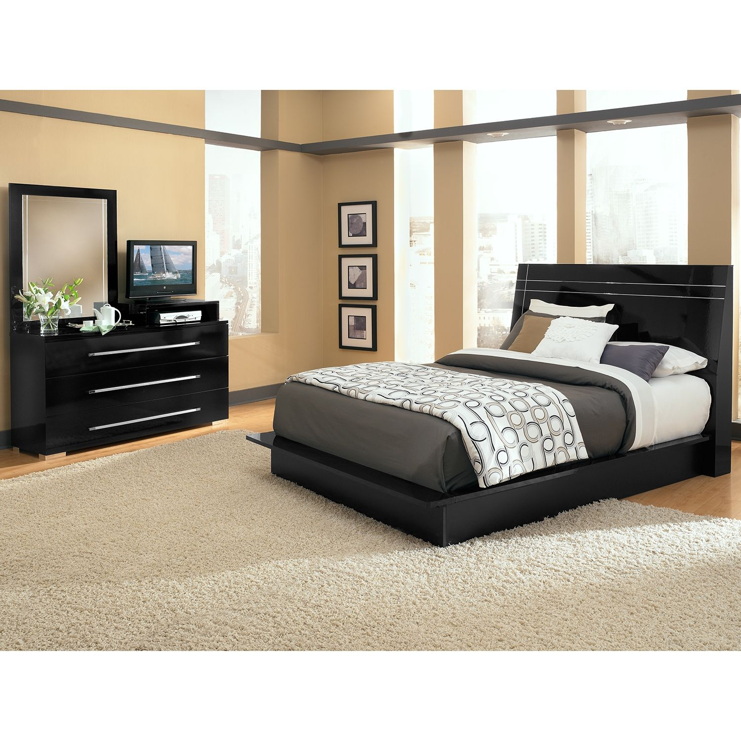 Dimora Black Ii 5 Pc Queen Bedroom Value City Furniture Cheap Bedroom Furniture Cheap Bedroom Furniture Sets Bedroom Sets