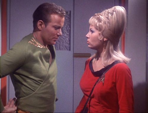 Grace Lee Whitney as Yeoman Janice Rand in the original Star Trek series.