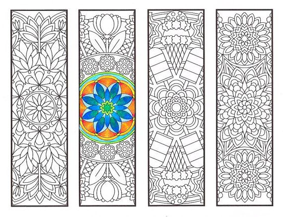 Coloring Bookmarks - Warm Weather Mandalas - coloring page for ...