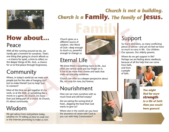 church brochure samples google search hsc pinterest brochure
