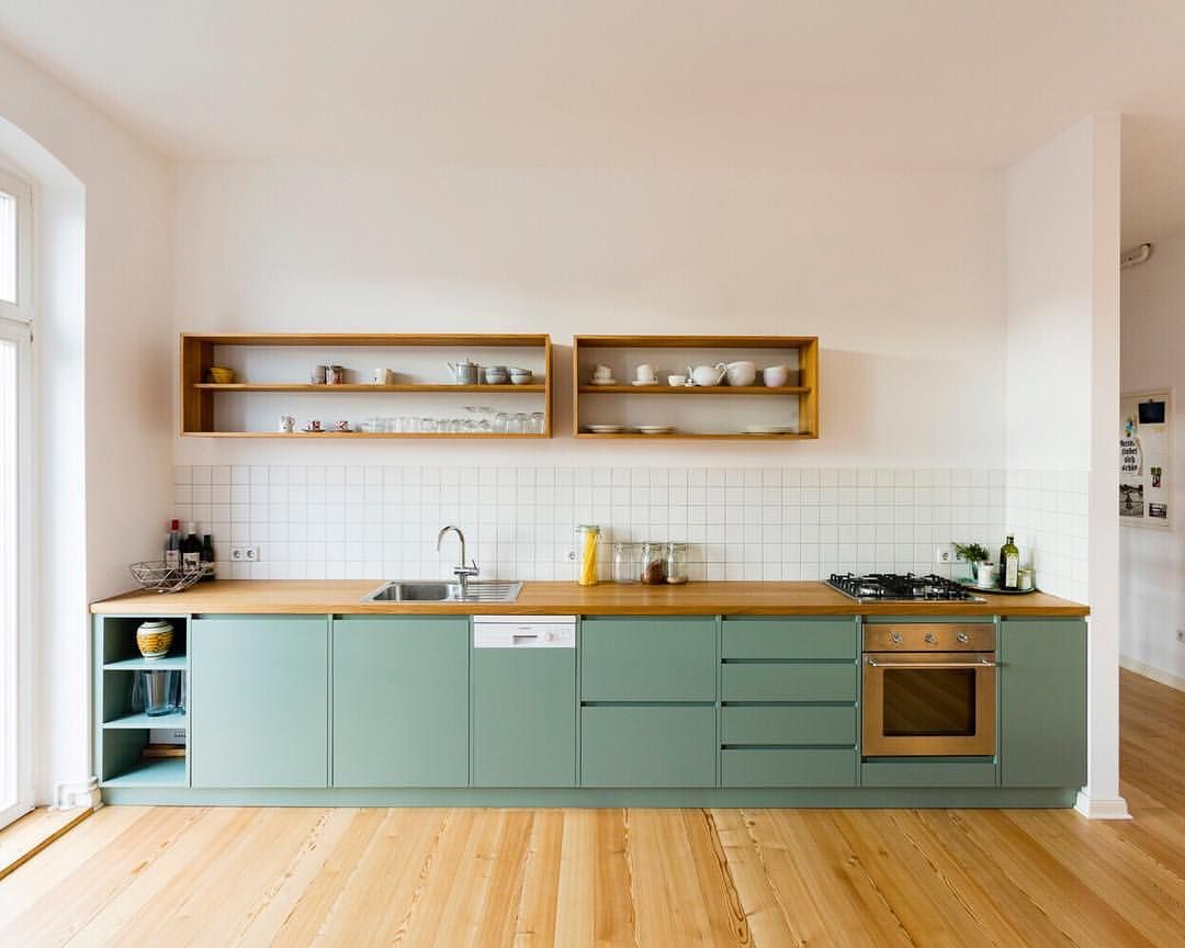 cuisine sobre vert et bois d233co pinterest vert