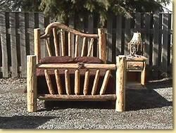 Wild West Log Furniture Log Bed